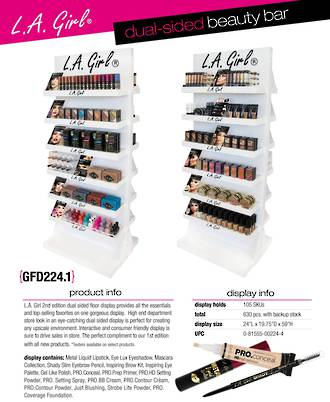 LA Girl NEW Dual Sided Floor Display