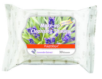 Purederm Makeup Remover Wipes - Lavender