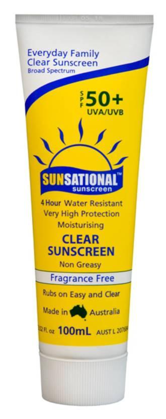 Sunsational 50+ Clear Sunscreen - 100ml