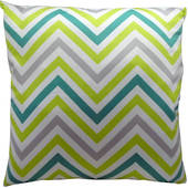 Cushion Blue/Green Chevron