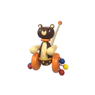 Wooden Push Along Toy - Bear