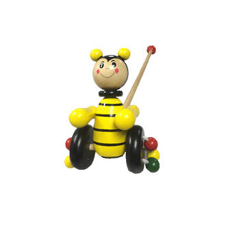 Wooden Push Along Toy - Bee