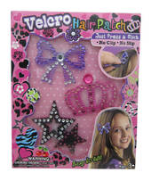 Velcro Hair Patch - Bow, Crown, Stars