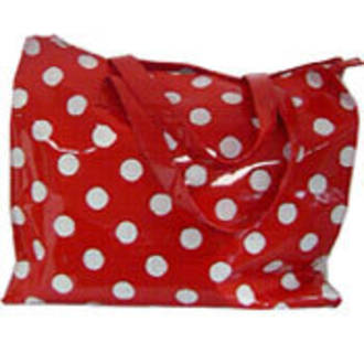 Shopping Bag - Red/White Polka Dot