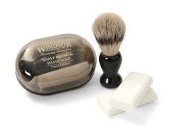 Windsor Shave Brush & Soap Travel Set