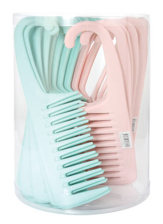 Shower Comb 23cm Green/Pink Display - 24pcs