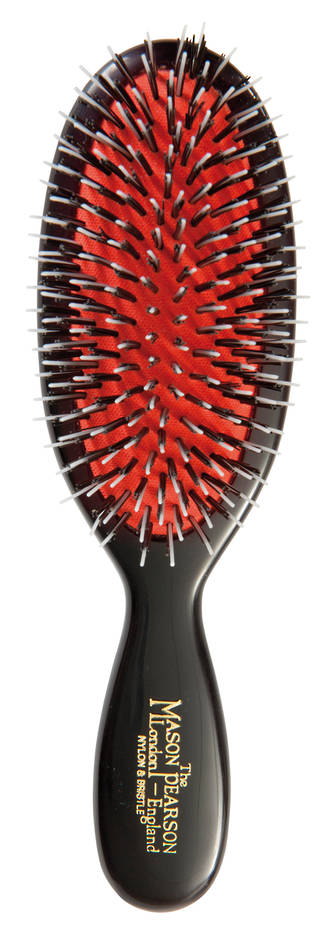 Mason Pearson Pocket Nylon/Bristle Hair Brush (Dark)