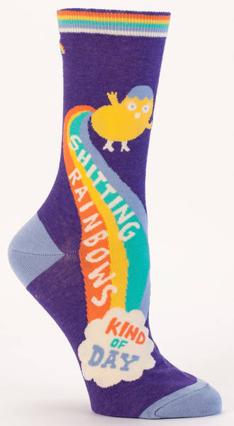 Blue Q Socks - Shitting Rainbows