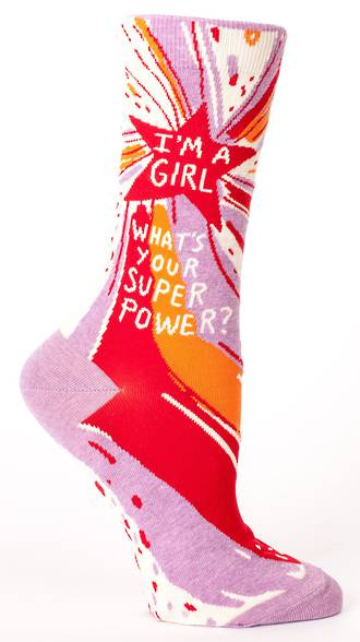 Blue Q Socks - Superpower