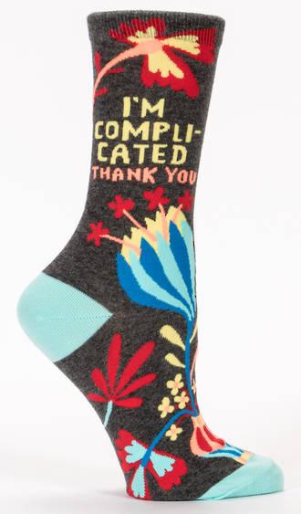 Blue Q Socks - I'm Complicated. Thank You.