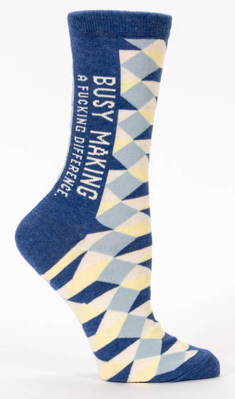 Blue Q Socks - Busy Making a Fucking Difference