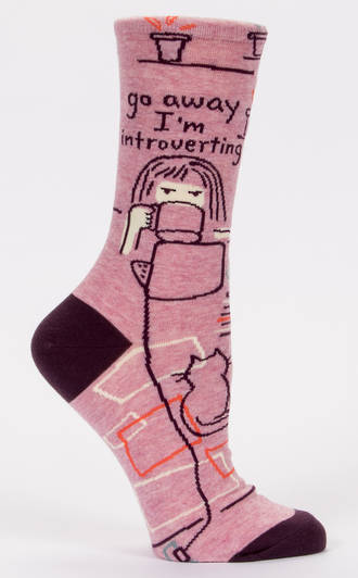 Blue Q Socks - Go Away, Introverting