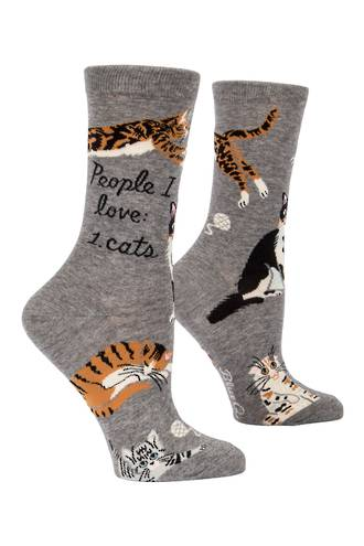 Blue Q Socks - People I Love: Cats