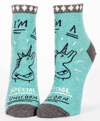 Blue Q Ankle Socks - Special Unicorn