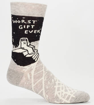 Blue Q Men's Socks - Worst Gift Ever