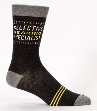 Blue Q Men's Socks - Selective Hearing Specialist