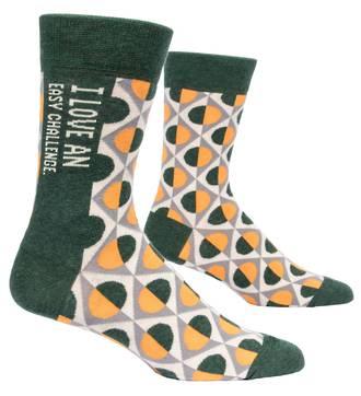 Blue Q Men's Socks - I Love An Easy Challenge