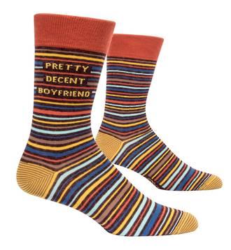 Blue Q Men's Socks - Pretty Decent BF