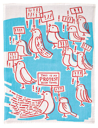Blue Q Dish Towels - This Is My Protest