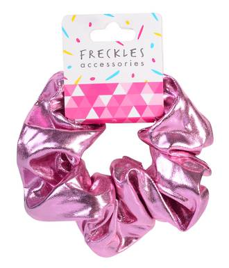 Metallic Pink Scrunchie