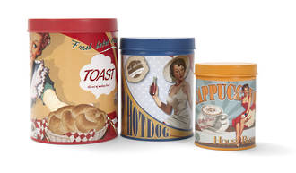 Retro Canisters (Set of 3)
