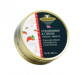 Simpkins Travel Sweets - Strawberry & Cream