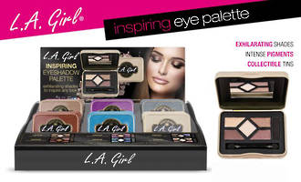 LA Girl Inspiring Eyeshadow Palette Display
