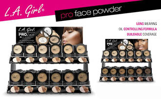 LA Girl Pro Face Powder Display
