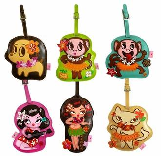 Fluff Luggage Tags - Hula Cuties (Pack 6)