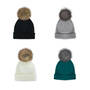 Posh Plush Knit Hats - Pack of 12pcs