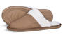 Womens Slippers Scuff Sherpa Caramel Small (Size 7-8)