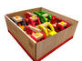 Big Wooden Cars Display - 6pcs