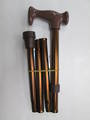 Folding Walking Stick - Brown