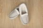 Unisex Sherpa Slippers Grey Small