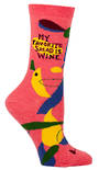 Blue Q Socks - My Favourite Salad is Wine