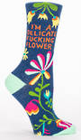 Blue Q Socks - Delicate Fucking Flower