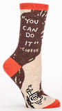 Blue Q Socks - You Can Do It - Coffee