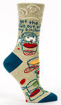 Blue Q Socks - Get the Hell Out of My Kitchen