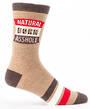 Blue Q Men's Socks - Natural Born Asshole