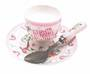 Pink Elephant Egg Cup, Spoon, Saucer Set