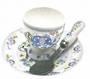 Blue Elephant Egg Cup, Spoon, Saucer Set