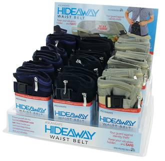 Scansafe Hideaway Waist Belt Display 18pcs