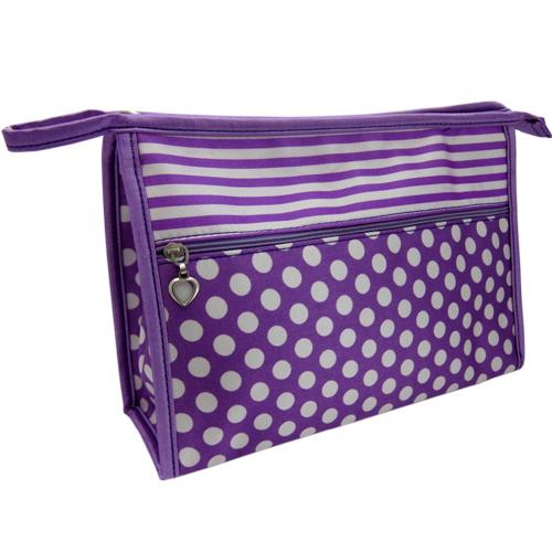 Cosmetic Bag StripeSpots – Purple