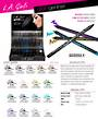 LA Girl NEW Glide Gel Eyeliner Display - 216pcs