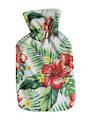 Microfiber Hot Water Bottle Cover - Tropical